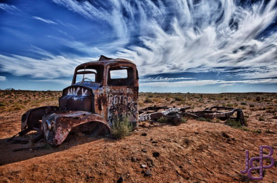 Wreck in the outback